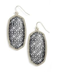 Kendra Scott - Metallic Danielle - Large Oval Statement Earrings - Lyst