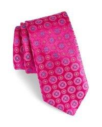 Ted Baker | Pink Medallion Silk Tie for Men | Lyst