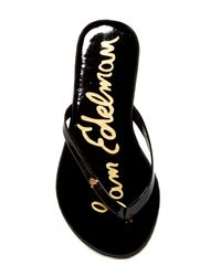 Sam Edelman | Black Mandy Flip Flop (little Kid) | Lyst