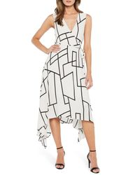 Bardot Multicolor Asymmetrical Wrap Dress