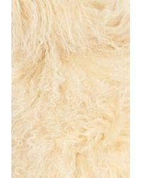 Toria Rose - Natural Genuine Mongolian Lamb Fur Scarf - Lyst