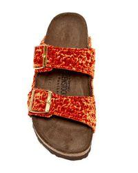 Birkenstock | Orange Arizona Soft Footbed Sandal - Discontinued | Lyst