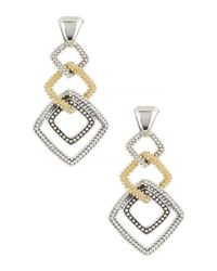 Lagos - Metallic 18k Gold & Sterling Silver Soiree Square Dangle Earrings - Lyst