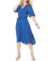 NYDJ Blue Chambray Dress