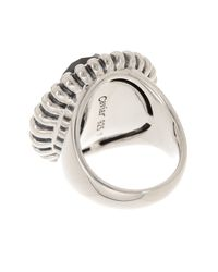 Lagos - Multicolor Sterling Silver Smokey Topaz Fluted Ring - Size 7 - Lyst