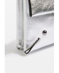 TOPSHOP - Metallic Leila Clutch Bag - Lyst