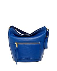 Cole Haan | Blue Celia Leather Bucket Hobo | Lyst