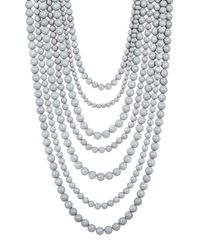BaubleBar - Gray Bold Multistrand Beaded Statement Necklace - Lyst