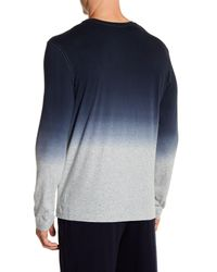 Daniel Buchler - Blue Dip Dye Long Sleeve Tee for Men - Lyst