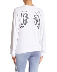 Wildfox White Angel Baby Baggy Beach V-neck Jumper