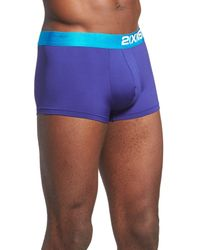 2xist - Blue Electric No-show Trunk for Men - Lyst