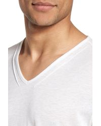John Varvatos | White V-neck T-shirt for Men | Lyst