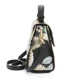 Ted Baker Black Elloise Small Gem Gardens Faux Leather Tote Bag