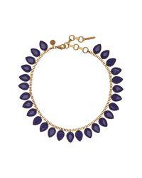 Loren Hope - Multicolor Sylvia Prong Set Faceted Teardrop Stone Necklace - Lyst