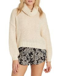 Billabong - White Stay Here Turtleneck Sweater - Lyst
