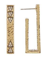 House of Harlow 1960 - Metallic Accented U-shaped Bar Stud Earrings - Lyst