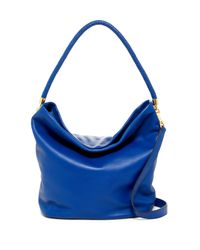 Cole Haan - Blue Benson Ii Leather Hobo Bag - Lyst