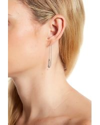 Rebecca Minkoff - Natural Safety Pin Threader Earrings - Lyst