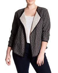 Joe Fresh | Gray Drapey Blazer (plus Size) | Lyst