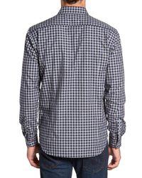 Jeremy Argyle Nyc - Gray Slim Fit Check Sport Shirt for Men - Lyst