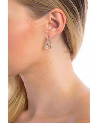 Judith Jack - Metallic Crystal Hoop Earrings - Lyst