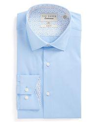 Ted Baker | Blue Booker Slim Fit Dress Shirt for Men | Lyst