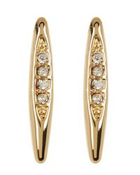 BCBGeneration | Metallic Crystal Detail Marquise Earrings | Lyst