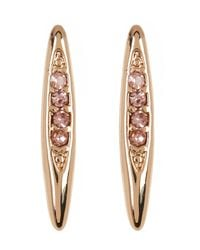 BCBGeneration - Multicolor Crystal Detail Marquise Earrings - Lyst