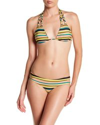 Volcom - Green Salty Air Triangle Bikini Top - Lyst