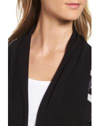 Chaus - Black Plaid Cotton Cardigan - Lyst