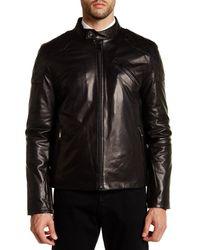 Daniel Won - Black James Genuine Leather Moto Jacket for Men - Lyst