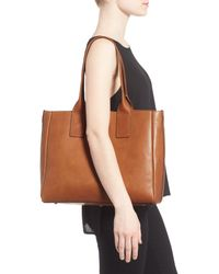 Frye - Brown Ilana Leather Tote - Lyst