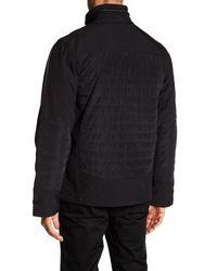 Bugatchi | Black Ribbed Front Zip Jacket for Men | Lyst