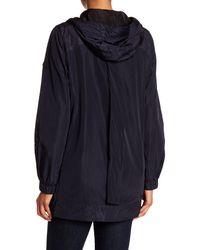 MICHAEL Michael Kors - Blue Hooded Jacket - Lyst