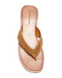 Frye - Multicolor Perry Fringe Thong Sandal - Lyst
