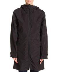 Pendleton - Black Long Hooded Anorak Jacket - Lyst