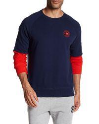 Converse | Blue Colorblock Sweatshirt for Men | Lyst