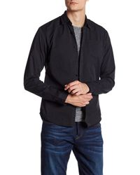 Scotch & Soda - Black Garment Dyed Long Sleeve Trim Fit Shirt for Men - Lyst