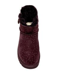 Ugg | Purple Mini Bailey Button Genuine Sheepskin Lined Constellation Boot | Lyst
