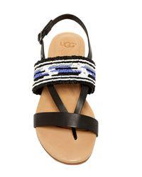 Ugg - Black Verona Serape Beaded Sandal - Lyst