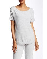 UGG | Gray Jade Short Sleeve Sweater | Lyst