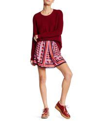 Anna Sui   Red Kitty Kat Print Mini Skirt   Lyst