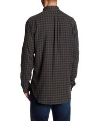 Billy Reid - Black Graham Plaid Long Sleeve Standard Fit Shirt for Men - Lyst