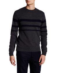 Billy Reid   Blue Stripe Crew Neck Sweater for Men   Lyst