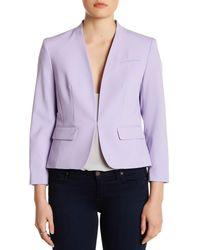 Nine West - Purple Two Pocket Stretch Crepe Blazer - Lyst