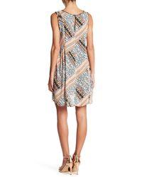BCBGeneration - Multicolor Patchwork Lattice A-line Dress - Lyst