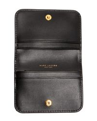 Marc Jacobs - Gray Saffiano Folded Card Case - Lyst
