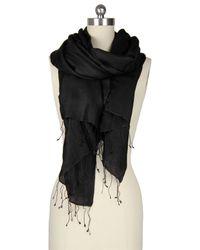 Saachi | Black Lightweight Cashmere & Silk Blend Scarf | Lyst
