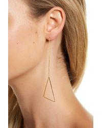 Argento Vivo | Metallic 18k Gold Plated Sterling Silver Triangle Threader | Lyst