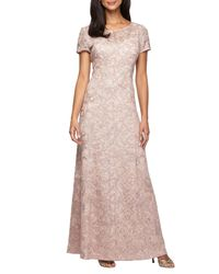 Alex Evenings - Pink Lace A-line Gown - Lyst
